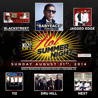 KBLX Hot Summer Night: Kenny 'Babyface' Edmonds, Blackstreet & Dru Hill at Concord Pavilion