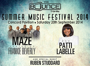 Bounce TV Summer Music Festival: Maze, Frankie Beverly & Patti LaBelle at Concord Pavilion