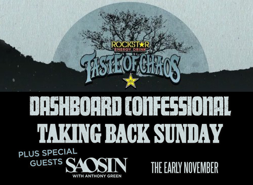 Taste of Chaos: Dashboard Confessional, Taking Back Sunday, Saosin & The Early November at Concord Pavilion