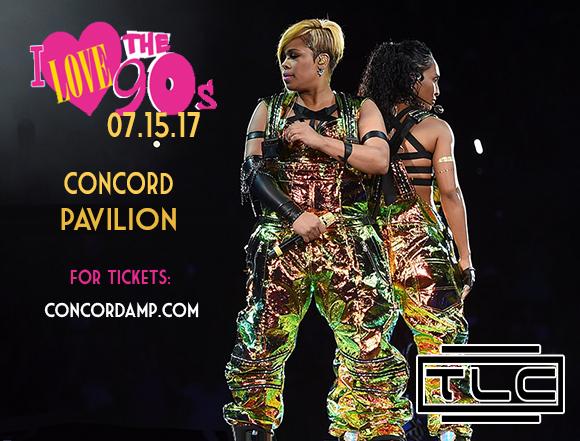 I Love The 90s: TLC, Biz Markie, Montell Jordan & Rob Base at Concord Pavilion