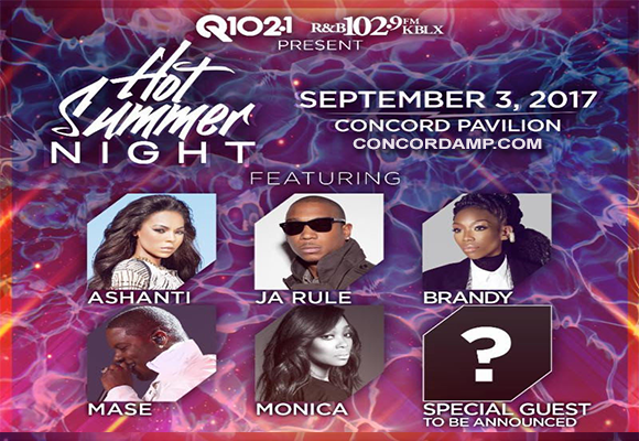 Hot Summer Night: Ja Rule, Ashanti, Mase & Monica at Concord Pavilion