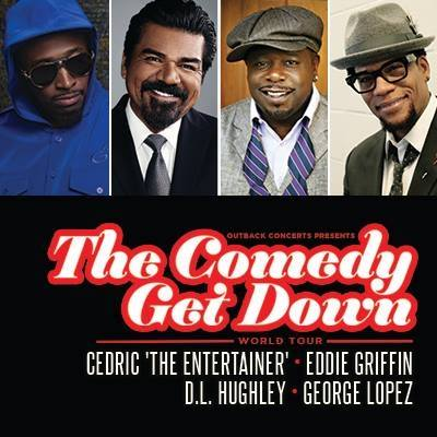 The Comedy Get Down Tour: Cedric The Entertainer, Eddie Griffin, D.L. Hughley & George Lopez at Concord Pavilion