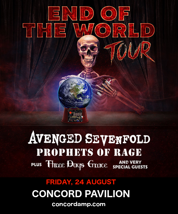 End of the World Tour: Avenged Sevenfold, Prophets of Rage & Three Days Grace at Concord Pavilion