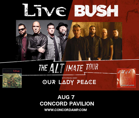 Live, Bush & Our Lady Peace at Concord Pavilion