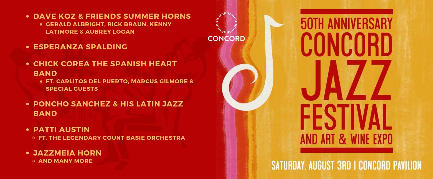 50th Anniversary Concord Jazz Festival at Concord Pavilion