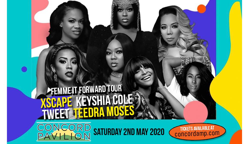 Femme It Forward Tour: Xscape, Keyshia Cole, Tweet & Teedra Moses at Concord Pavilion