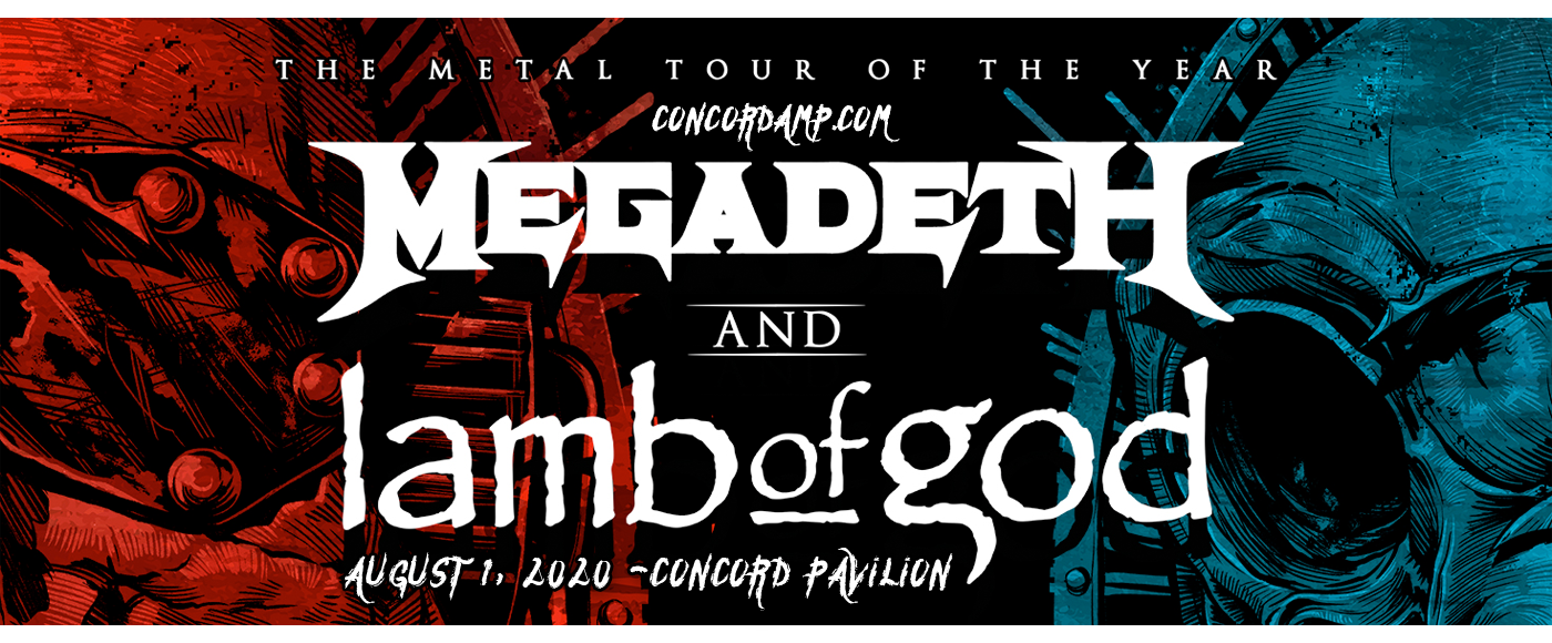 Megadeth & Lamb of God [POSTPONED] at Concord Pavilion