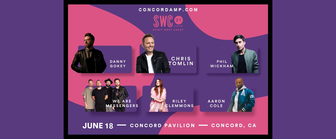 Spirit West Coast 2021: Chris Tomlin. Phil Wickham & Danny Gokey at Concord Pavilion
